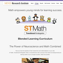 ST Math: Transitional Kindergarten Curriculum
