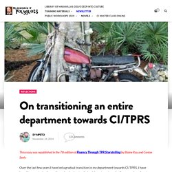 On transitioning an entire department towards CI/TPRS – My generation of polyglots