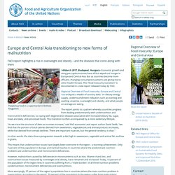 FAO - News Article: Europe and Central Asia transitioning to new forms of malnutrition