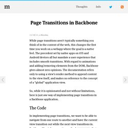 Page Transitions in Backbone