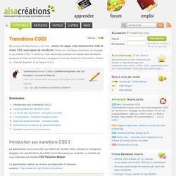 Transitions CSS3