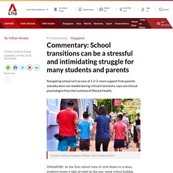 School transitions can be a stressful and intimidating struggle for many students and parents