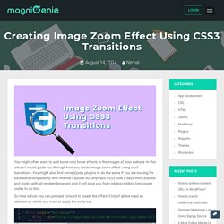 Creating Image Zoom Effect Using CSS3 Transitions - MagniGenie