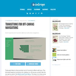 Transitions for Off-Canvas Navigations