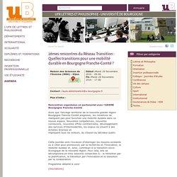 Annonce des 2èmes rencontres du Réseau Transition sur le site uB, Dijon