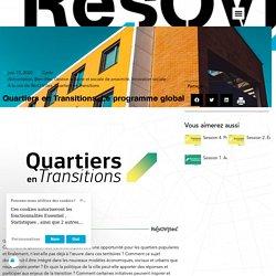 Quartiers en Transitions. Le programme global - Résovilles