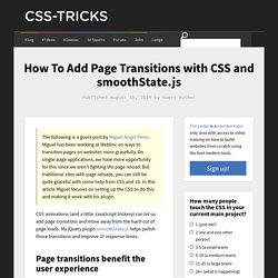 How To Add Page Transitions with CSS and smoothState.js