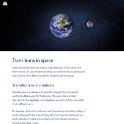 Transitions in space
