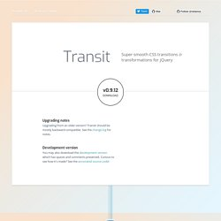 jQuery Transit - CSS3 animations for jQuery