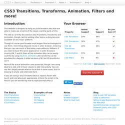 Using CSS3 Transitions, Transforms and Animation