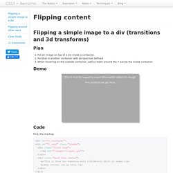 CSS transitions, CSS transforms and CSS animation