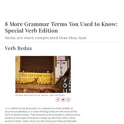 Modal Verbs - Transitive and Intransitive Verbs, Auxiliary Verbs, and 6 More Grammar Terms You Used to Know