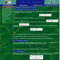 Etude transitoire des systèmes continus d'ordre 2