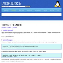 Linux translate command - tr command examples