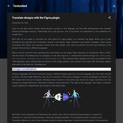 Translate designs with the Figma plugin