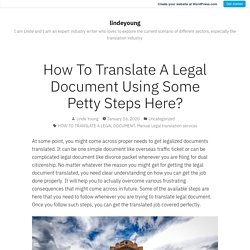 Get a Guide To Translate Legal Documents