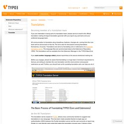 Translate - TYPO3 - The Enterprise Open Source CMS