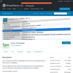 Loco Translate – Extension WordPress