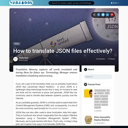 How to translate JSON files effectively?