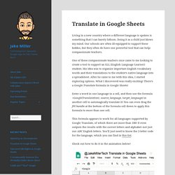 Translate in Google Sheets