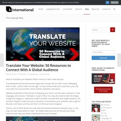 Translate Your Website: 50 Resources for Multilingual Websites