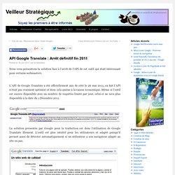 API Google Translate : Arrêt définitif fin 2011
