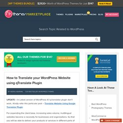 How to Translate your Wordpress Website using qTranslate Plugin