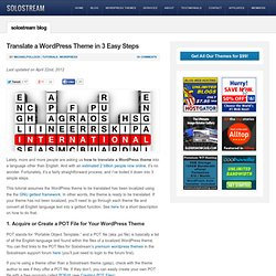 Translate a WordPress Theme in 3 Easy Steps | Solostream
