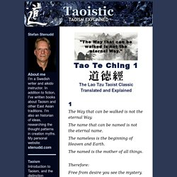 Tao Te Ching by Lao Tzu Translated and Explained - Chapter 1
