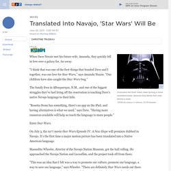 Translated Into Navajo, 'Star Wars' Will Be