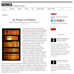 In Praise of Failure by Pierre Bayard translated by Suzanne Menghraj