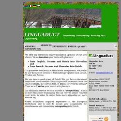Translating, Interpreting, Revising Text, Copywriting - Linguaduct.eu