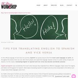 Tips for Translating English to Spanish