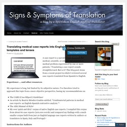 Translating medical case reports into English: terms, templates and tenses
