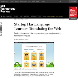 Startup Has Language Learners Translating the Web