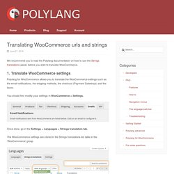 Translating WooCommerce urls and strings – Polylang