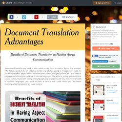 How Certified Document Translation Helps In Communication?