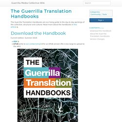 The Guerrilla Translation Handbooks - Guerrilla Media Collective Wiki