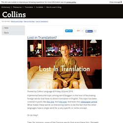 Lost in Translation? - New on the blog - Word Lover's blog - Collins Dictionary