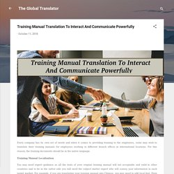 Why Need Of Training Manual Translation Service For A Company?