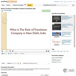 Best Translation company in New Delhi India