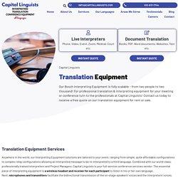Translation Equipment For Rent