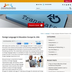 Foreign Language in Education: Europe vs. USA