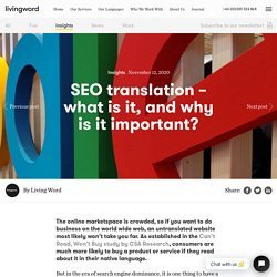 SEO translation – what is it, and why is it important? - Living Word