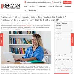Translation of Relevant Medical Information for Covid-19