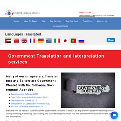 Government Translation and Interpretation in Washington