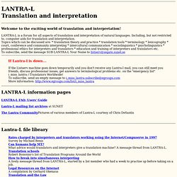 LANTRA-L Translation and interpretation