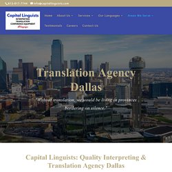Translation Agency Dallas at Capital Linguists