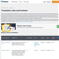Translation Jobs for February 2017
