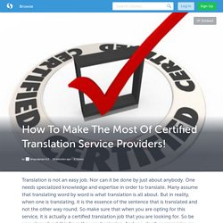 How To Make The Most Of Certified Translation Service Providers! (with image) · languagespro12